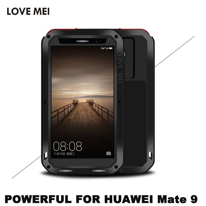 LOVE MEI Brand Aluminum Metal Case For Huawei Mate 9 (5.9 inch) Shockproof Waterproof Armor Cover For Huawei Mate 9 Mate9 Shell