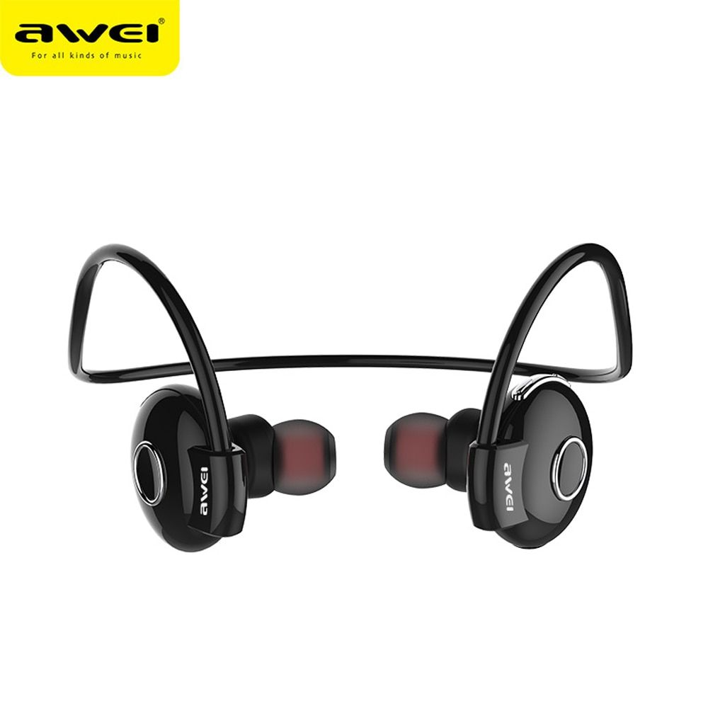 Awei Blutooth Sport Wireless Headphone Headset Auriculares Bluetooth Earphone Cordless Earbud Earpiece In Ear Mic For Phone Buds