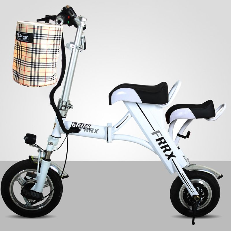 12 inch mini folding electric bicycle Maternal and Child Parenting electric bike utralight City Portable 48V8A Lithium eBike