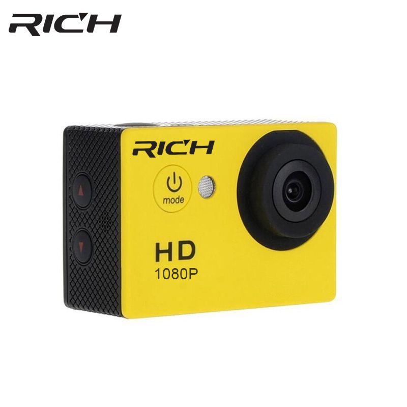 RICH Sports Action Camera 1080P HD 8MP Underwater Mini <font><b>Camcorder</b></font> Waterproof SJ Cam Sport DV helmet outdoor camera
