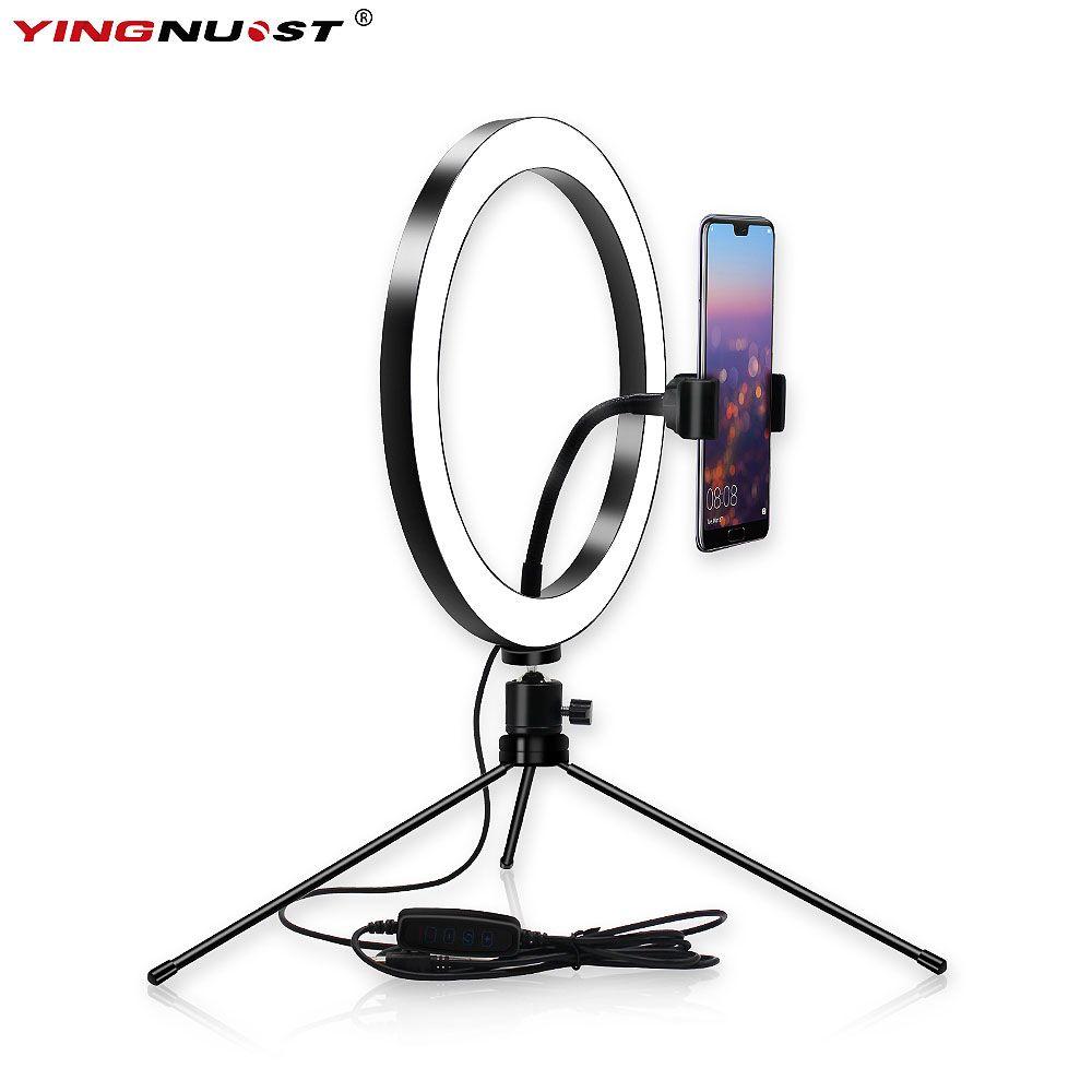 LED anneau lumière lampe pour Youtube vidéo maquillage en direct Streaming anneau lampe de remplissage téléphone portable Dimmable lumière