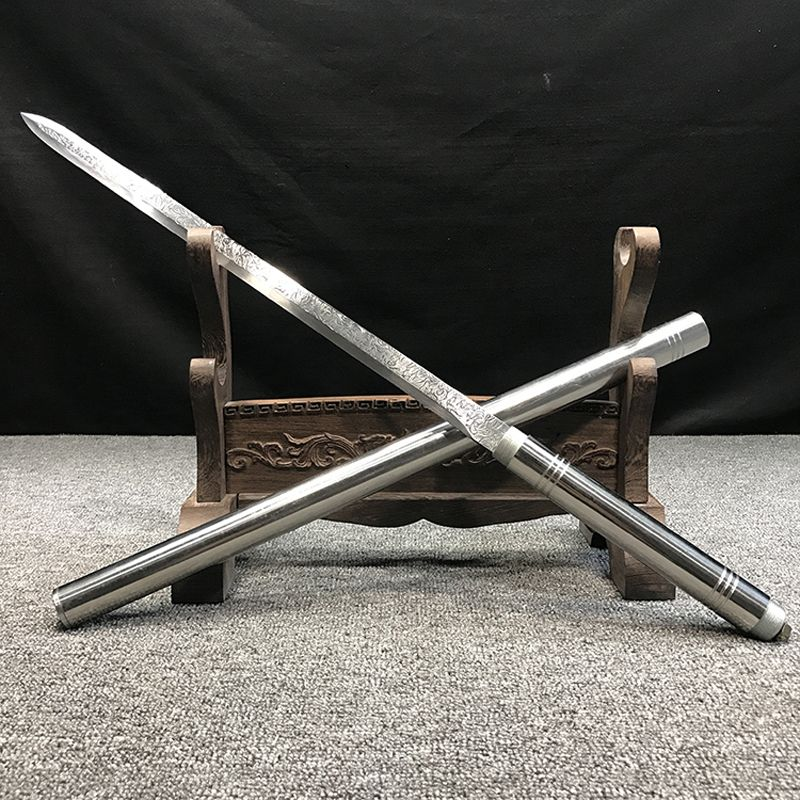 Whole body stainless steel sword Self-defense props Home craft display home decor