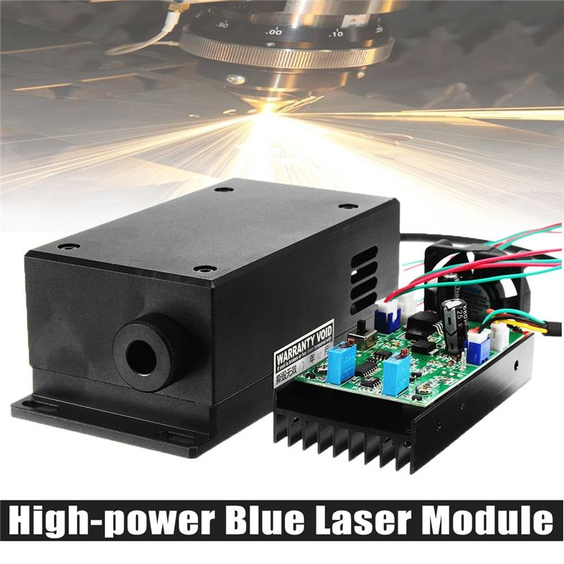 450/445nm 17W 17000mw High Power Laser Head Engraving Module Adjustable Focal Blue Laser Module DIY Wood Metal Engraving Machine