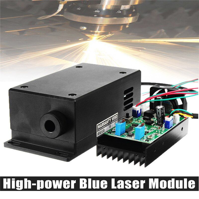 450/445nm 17W 17000mw High Power Laser Head Engraving Module Adjustable Focal Blue Laser Module DIY Wood Metal Engraving Machine