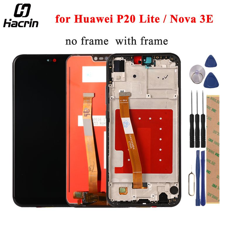 Huawei P20 Lite LCD Display + Touch Screen Frame Digitizer Assembly Replacement For Huawei Nova 3E Mobile Phone 5.84inch + Tools