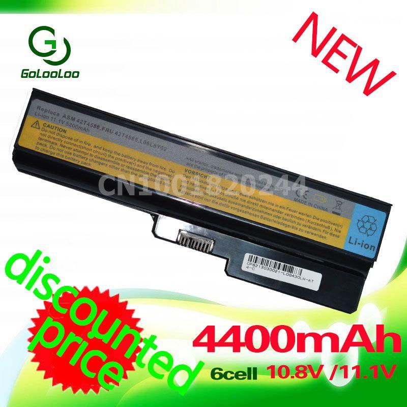 Golooloo 4400 mah batterie Pour Lenovo 3000 B460 B550 G550 G555 G430 L08L6Y02 G430L G450 N500 G450A G450M G455 G450 g530 G530A