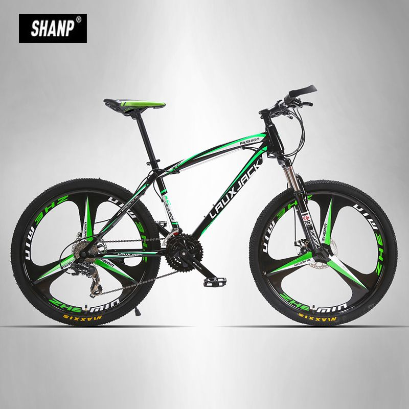 LAUXJACK Mountain Bike Steel Frame 24 Speed Shimano 26 Magnesium Alloy Wheel