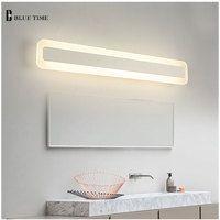 De baño de acrílico espejo frontal luz LED lámpara de pared moderno para cuarto de baño dormitorio LED lámparas de luces de pared Luminaria 120 100 80 60 cm