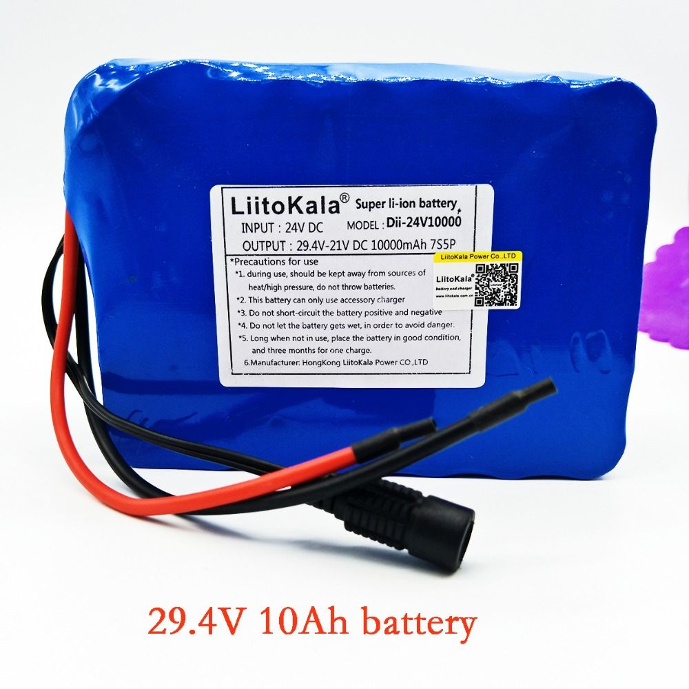 Liitokala 7s5p New victory 24V 10Ah lithium battery electric bicycle 18650 24V (29.4V)Li ion battery no contains charger