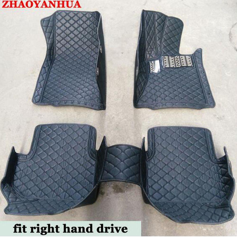 Right hand drive car floor mats made for Toyota Camry Prado RAV4 Corolla Highlander full cover foot case rugs car styling carpe