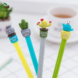 1 шт. Lytwtw's Корейская Милая Канцелярия кактус ручка Подарочная гелевая ручка школьная Мода Офис Kawaii поставка