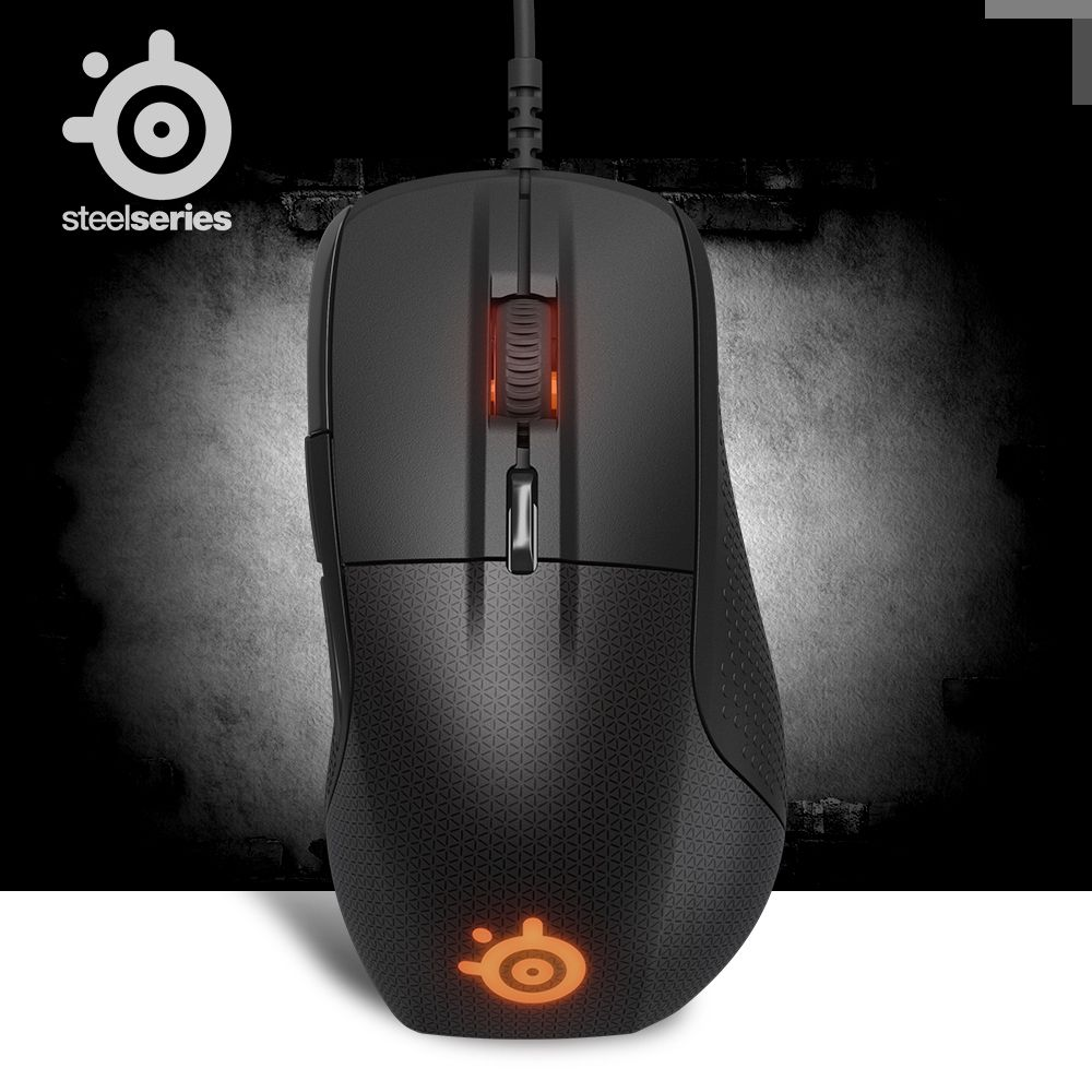 Original SteelSeries Rival 700 Gaming Mouse Mice USB Wired 6500 DPI Optical Mouse Black Edition For FPS RTS MMO LOL Gamer Cheap