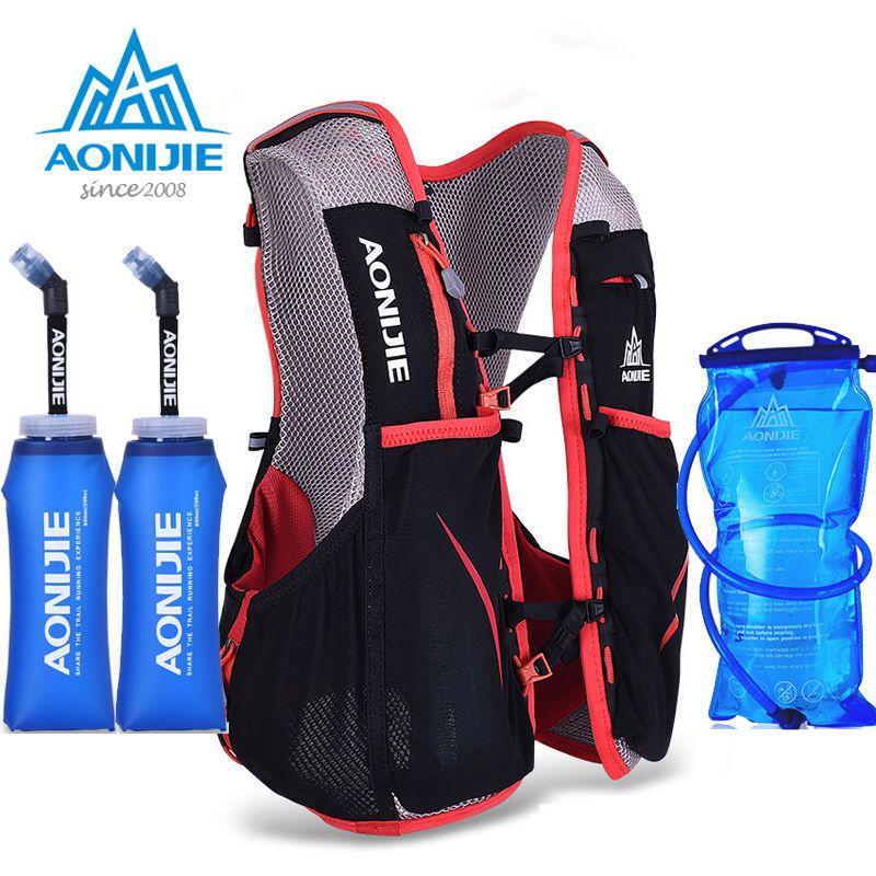 AONIJIE Frauen Männer Marathon Trink Weste Pack Läuft Wasser Tasche Radfahren Wandern Bag Außen Sport licht gewicht Lauftasche