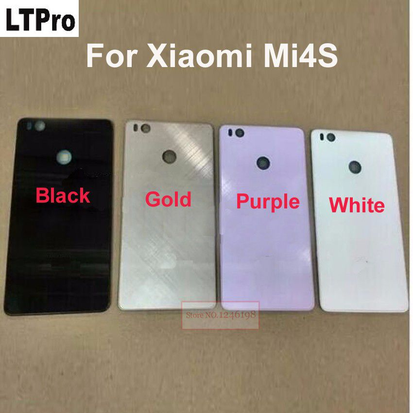 LTPro Top Quality Back Rear Cover For Xiaomi Mi4S M4S 4S Battery Door Housing case back cover Black/White/Gold/purple