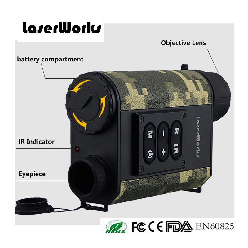 Laserworks 480X240 Nocturne Infrarouge Numérique Vision Portée 6X32 LRNV009 500 m Laser Télémètre Camouflage