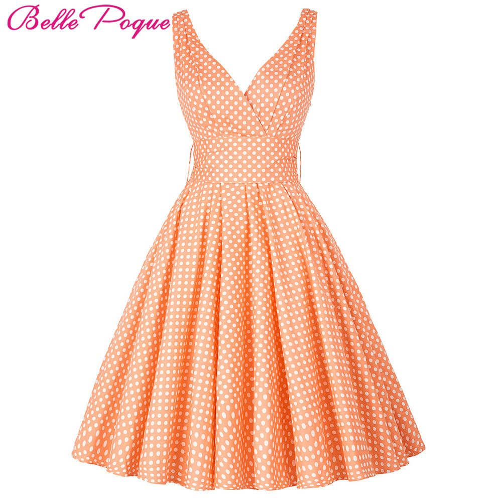 Belle Poque Womens Summer Dresses 2018 Women Maggie Tang 50s 60s Robe Vintage Retro Pin Up Swing Polka Dot Tea Rockabilly Dress