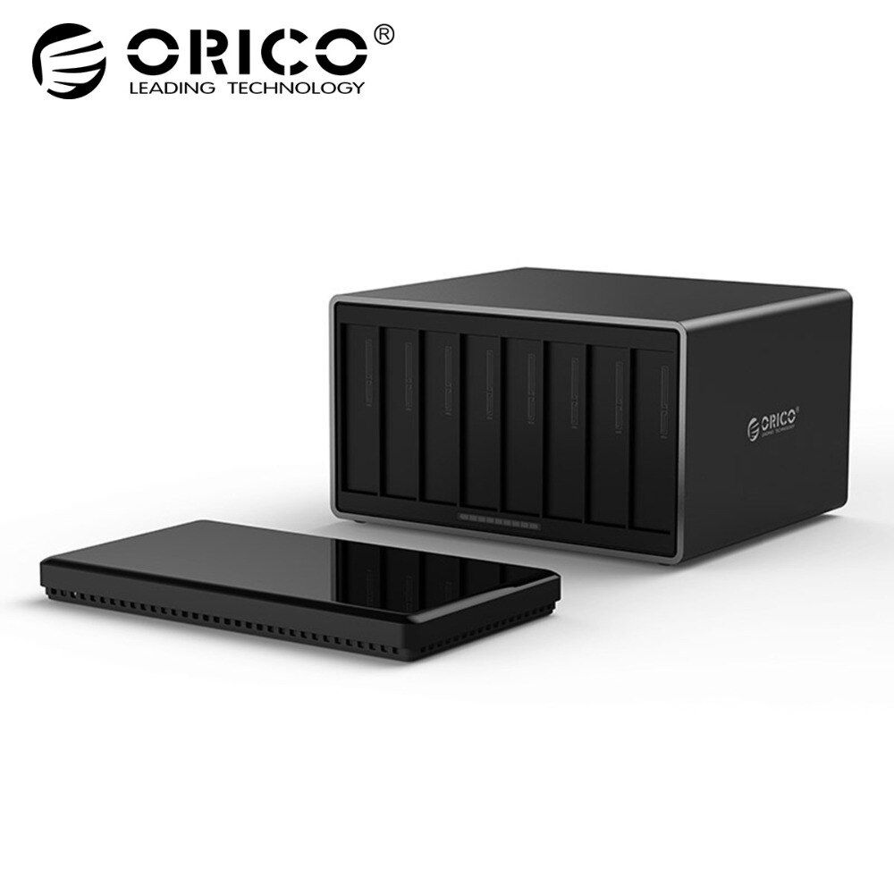 ORICO 3,5 zoll 8 Bay USB 3.0 Festplatte Gehäuse SATA zu USB 3.0 Externe Festplatte Docking Station Unterstützung 80 tb 5 Gbps UASP
