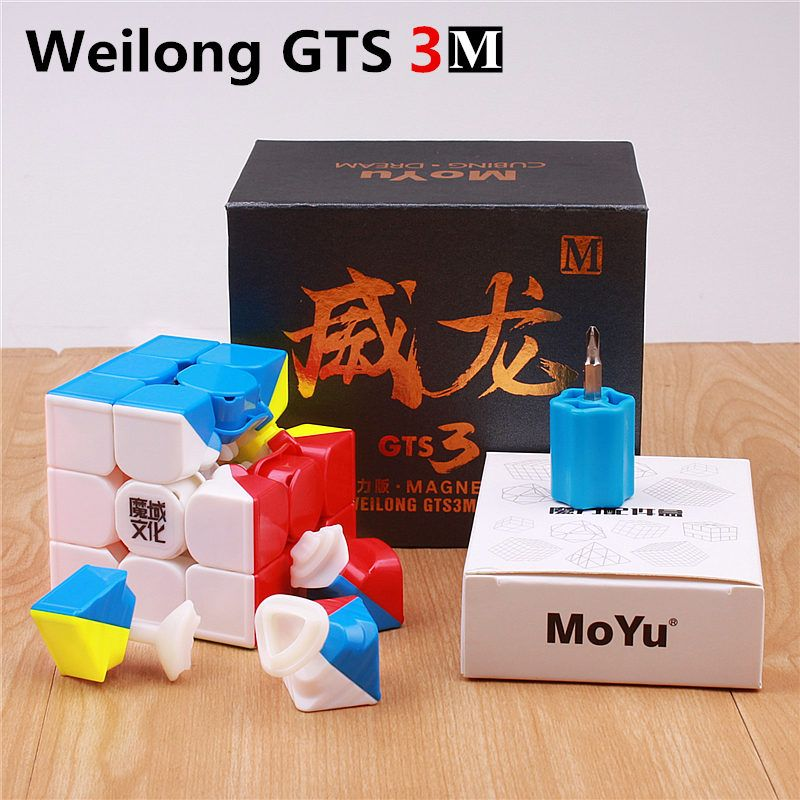 Moyu weilong GTS 3M V2 Magnetic 3x3x3 puzzle magic cubes professional magnets speed cube 3 on 3 toys for children