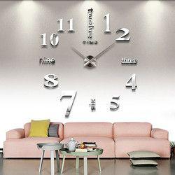 DIY Stiker Dinding Clock 3D Besar Jam Cermin Stiker Dinding 2018 Baru Dekorasi Rumah Desain Modern Jam Dinding Stiker Dinding