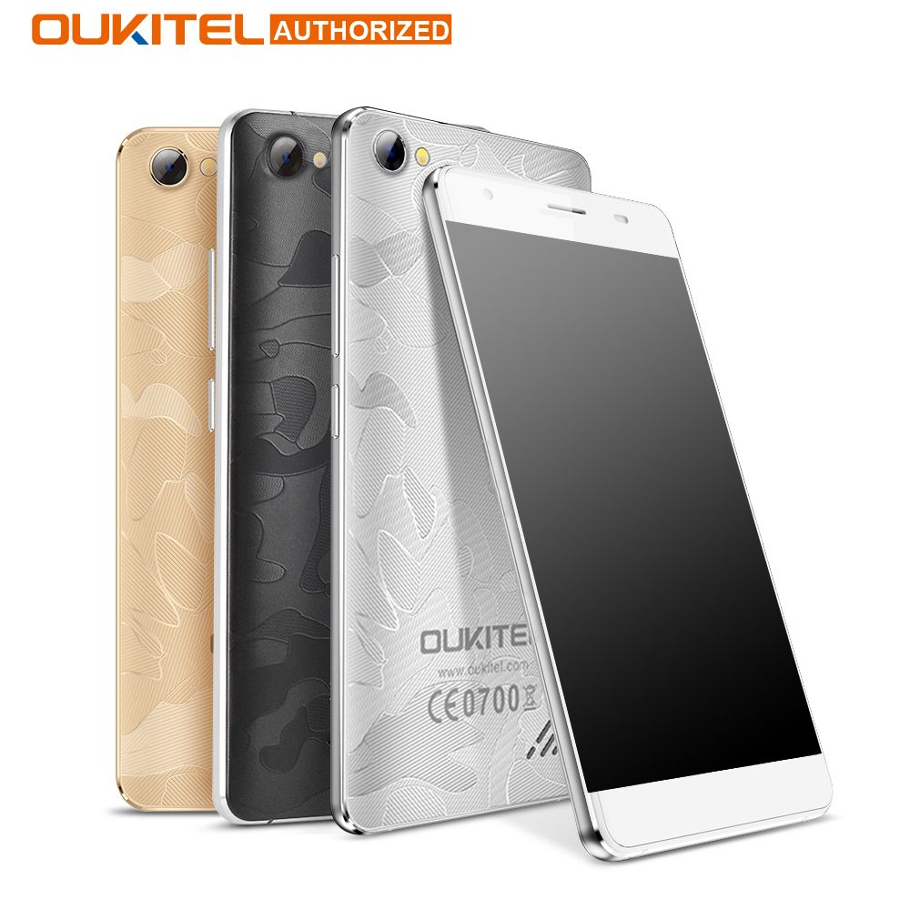 OUKITEL C5 PRO 5.0 Android 6.0 4G Smartphone 2GB+16GB 720*1280 MTK6737 Quad Core 1.3GHz Cellphone 5MP 2000mAh GPS Mobile Phone