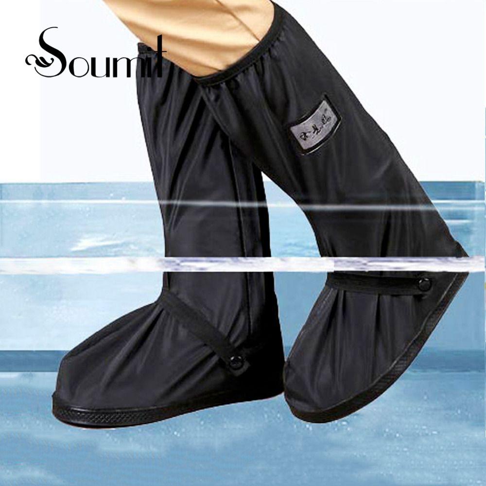 Soumit Étanche Pluie Couvre-chaussures pour la Moto Vélo Vélo Hommes Femmes Réutilisable Boot Couvre-chaussures Bottes Chaussures Protecteur Couvre
