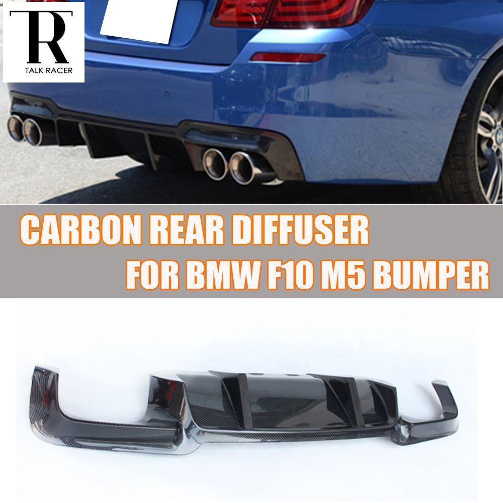 F10 M5 Carbon Fiber Rear Bumper Spoiler Diffuser for BMW F10 M5 M Bumper 2010 - 2016 ( NOT fit M-tech M-sport Bumper )