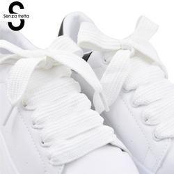Senza Fretta Lebar Tali Sepatu 120*1.5 Cm Double Layer Sepatu Tali Sepatu Lemak Tali Sepatu untuk Sepatu Sneaker Sepatu Olahraga tali LDD0617