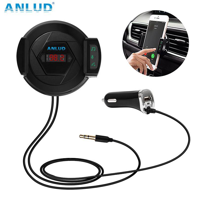 Bluetooth FM Transmetteur Sans Fil Radio Adaptateur De Voiture Kit Chargeur De Voiture Mains Libres Téléphone Titulaire Entrée AUX Pour iPhone Android MP3
