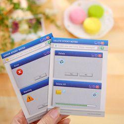 60 páginas/set lindo Sistema Informático forma Memo pad DIY Adhesivos diario papelería set kawaii Adhesivos lindo post it suministros de oficina