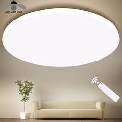 Techo llevado ultrafino llevó las luces del techo iluminación lámpara moderna sala de estar dormitorio cocina montaje en superficie Control remoto