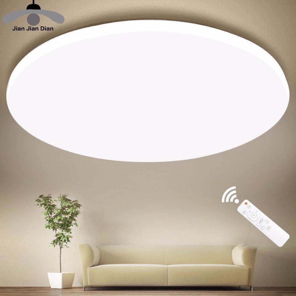 Ultra mince LED plafonniers moderne lampe salon chambre cuisine luminaire montage en Surface télécommande