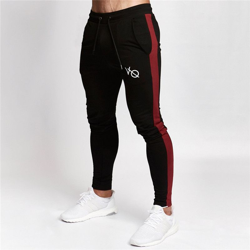 2019 High Quality Gyms Jogger Pants Men Black EDGE Tapered Sweatpants Fitness Long Pants For Runners Autumn Sweat Trousers Brand