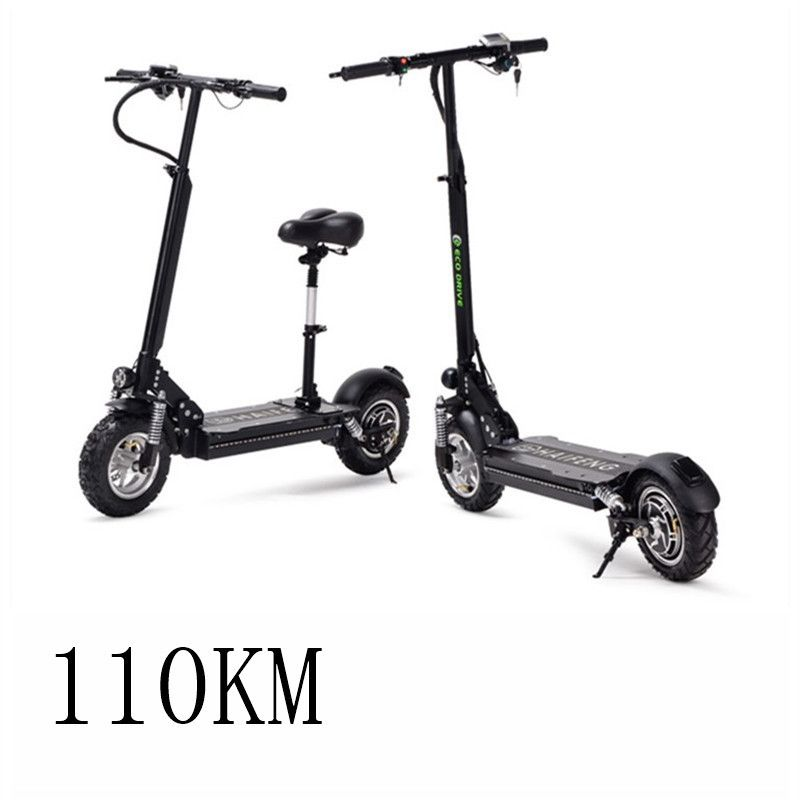 Electric bicycle 11 inch adult folding portable Lithium oil brake shock generation driving scooter explosion-proof vacuum tyre