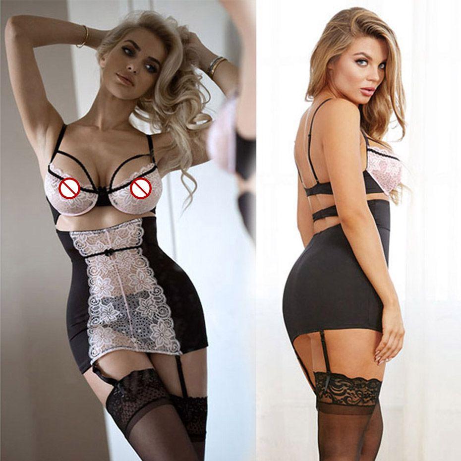 Nouveau Porno Femmes Lingerie Sexy Chaude Érotique Apparel Transparent Dentelle Érotique Lingerie Porno Costumes Évider Sexy Sous-Vêtements