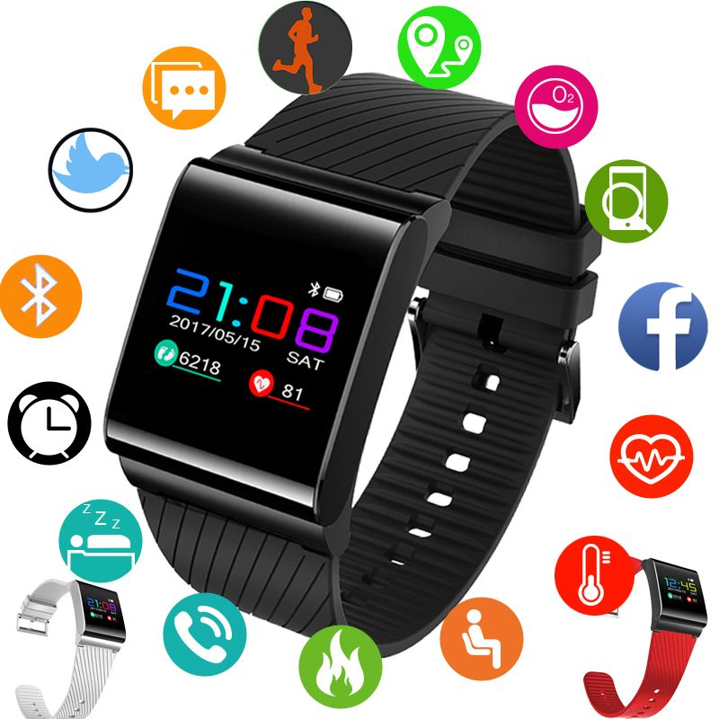 BANGWEI Smart Watches Blood Pressure Blood Oxygen Heart Rate Detection Color Screen OLED sports watch Fitness tracker Pedometer