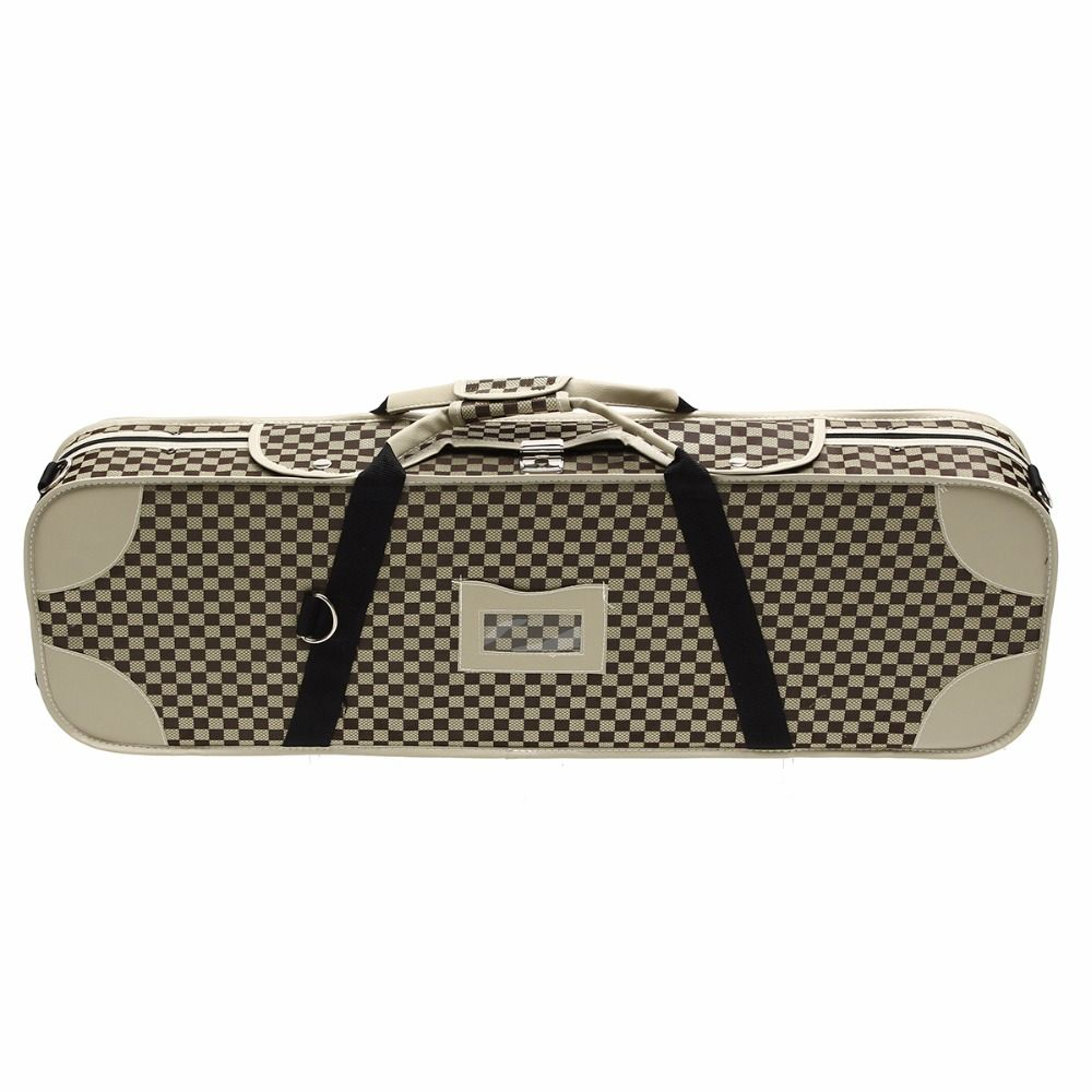 Portable 4/4 Violion Box Violin Case With Humidity table Straps locks Waterproof