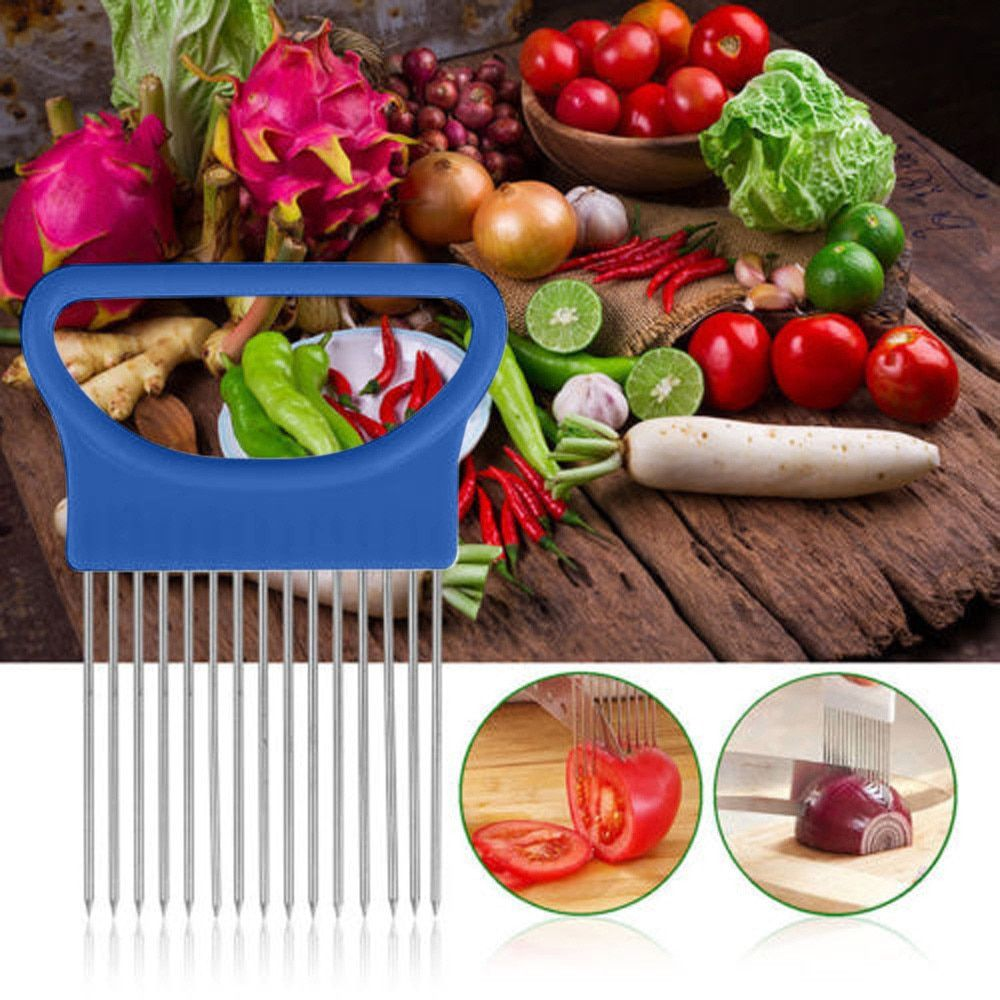 DG31701 1PC Tomato Onion Vegetable Slicer Cutting Aid Guide Holder Slicing Cutter Gadget Kitchen Tools For Protecting Finger
