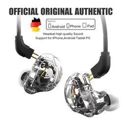 Baru Qkz VK1 4DD Di Telinga Earphone HiFi DJ Monito Olahraga Lari Earphone Earplug Headset Earbud ZS10 ZS6 Fone De ouvido Audifonos