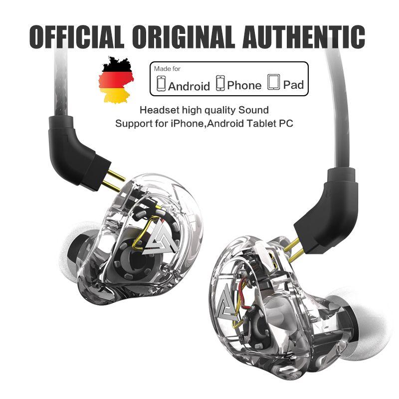 New QKZ VK1 4DD In Ear Earphone HIFI DJ Monito Running Sport Earphones Earplug Headset Earbud ZS10 ZS6 fone de ouvido audifonos