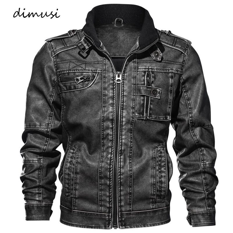 DIMUSI Men Autumn Winter PU Leather Jacket Motorcycle Leather Jackets Male Business casual Coats Brand clothing 5XL,TA132
