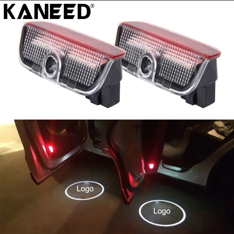 LED Logo For SKODA 2 PCS LED Car Door Welcome Logo Car Brand 3D Shadow Light Projector for Skoda VW Superb
