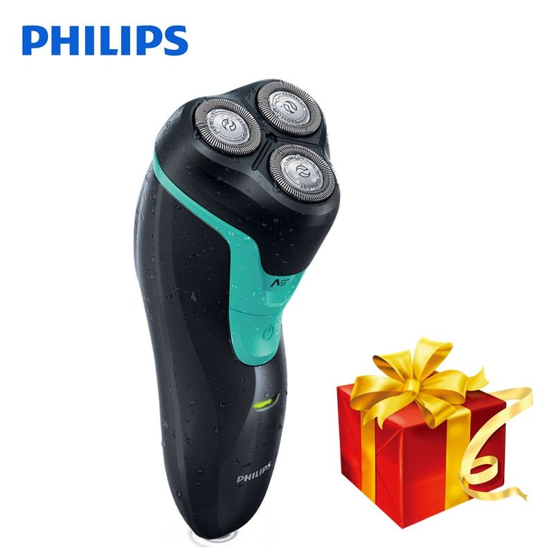 100% Original Philips Electric shaver FT658 Rechargeable Rotary With 3D Floating Heads Ni-MH Battery Support Wet&Dry Shaving