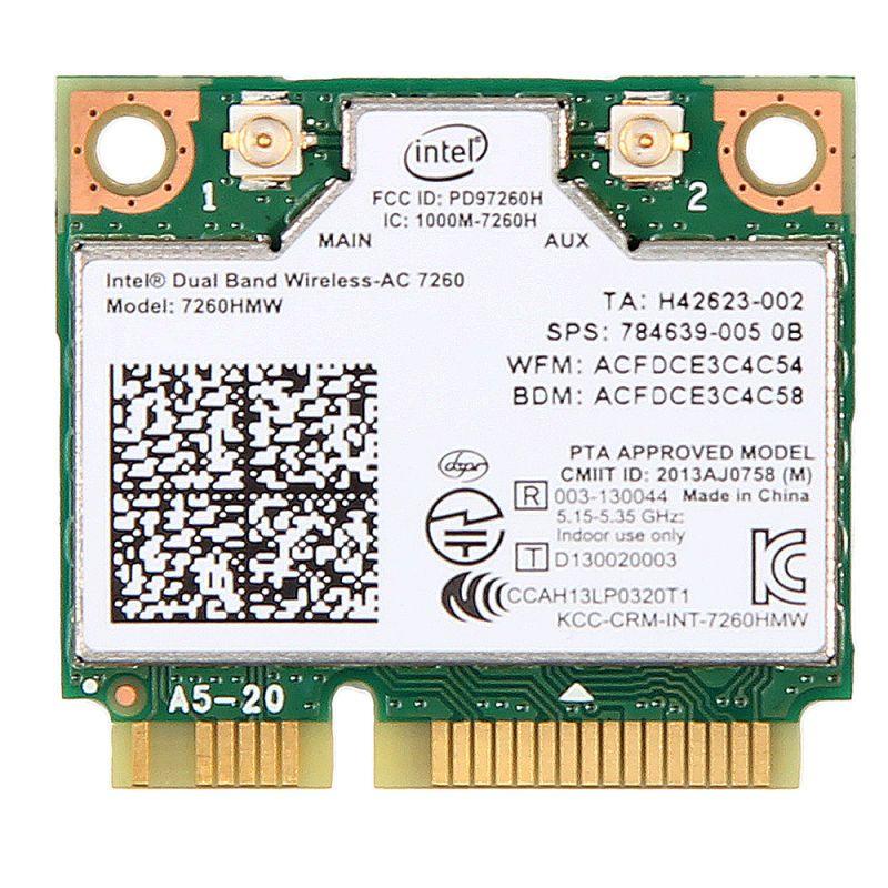 876 M double bande 2.4 + 5G Bluetooth V4.0 Wifi sans fil Mini carte pci-express pour Intel 7260 AC 7260HMW 7265 IT-7265HMW 8260
