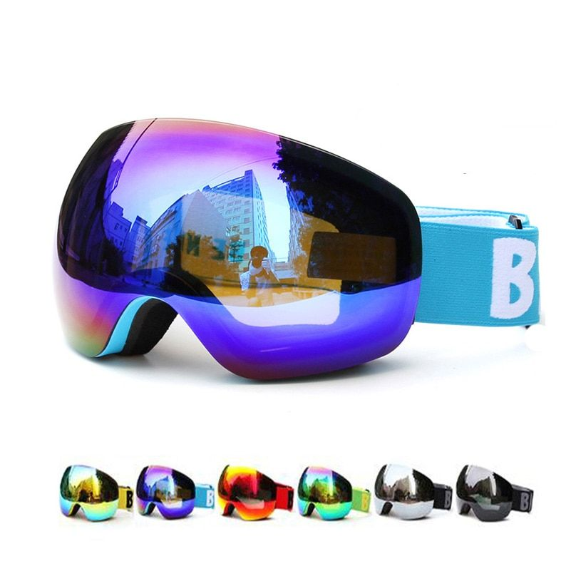 Professional Big Frame Ski Goggles Double Lens UV400 Anti-fog Adult Snowboard Skiing Glasses Women Men Snow Eyewear