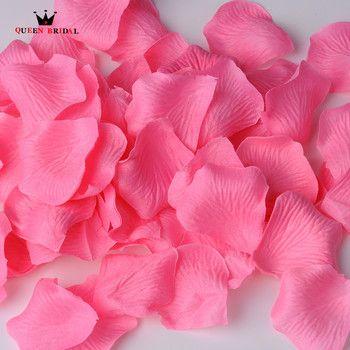REINE DE MARIÉE 500 Pcs/Lot Rose Pétales de Mariage Décoration De Mariage Fleurs Petalas Petalos de Rosa Soie Rose Pétale Beaucoup De Couleurs NO1