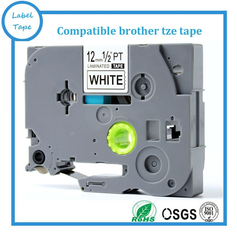 ON SALE Black on white 12mm brother tze-231 P touch tz label tape TZ231 TZ-231 TZe231 label cartridge for brother lable printer
