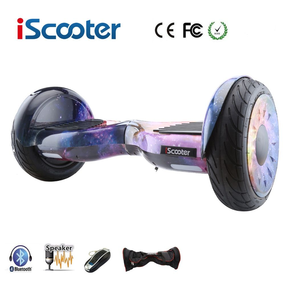 iScooter hoverboard 10 inch bluetooth two wheel smart self balancing scooter electric skateboard with speaker giroskuter UL2722