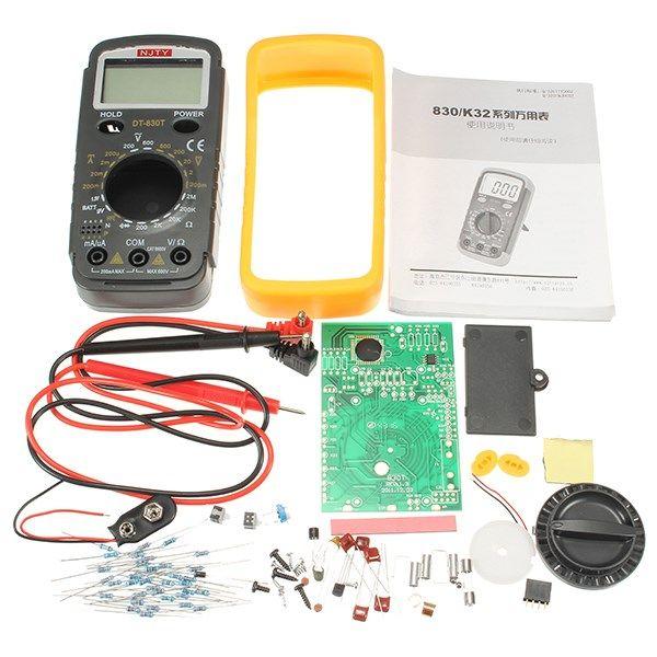 La mejor Promoción de Alta Calidad DIY Kit de Entrenamiento DT-830T Multímetro Digital Electrónico