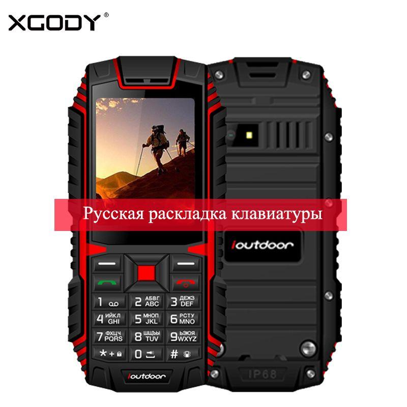 <font><b>XGODY</b></font> ioutdoor T1 2G IP68 Phone Waterproof 2.4 Inch Telefone Celular 128M+32M GSM 2MP Back Camera FM 2100mAh Rugged Mobile Phone
