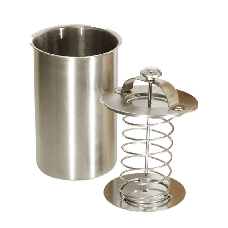 1 Liter Edelstahl Schinken Maker/Schinken Fleisch Walzmaschine mit ein Thermometer Schinken Kessel Fleisch Topf Pan Druck Schinken Herd